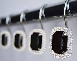 Rhinestone Shower Curtain Hooks Shower Curtain Hooks Rings Clear Highest Quality 1