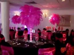 Ostrich Feather Centerpieces Pink Fuchsia Ostrich Feather Centerpiece Rentals With French