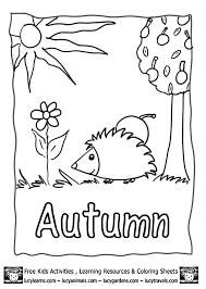 Autumn Pictures To Color Coloring Page We Are All Magical Autumn Fall Coloring Page