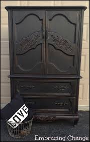 Black Armoire Liquorice Armoire Guest Post Country Chic Paint