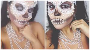 Sugar Skull Halloween Makeup Tutorial by Glamorous Sugar Skull Halloween 2014 Youtube
