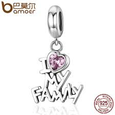 charm bracelet charms sterling silver images Bamoer genuine 925 sterling silver i love my family heart dangle jpg