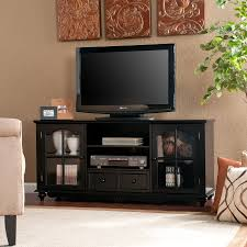 media console with glass doors furniture black high gloss polished media tv stand entertainment