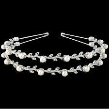 pearl headband swarovski pearl headband row topazbridalacc