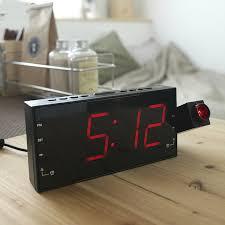 sveglia comodino da letto creativa proiezione radio sveglia radio sveglia