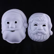 unpainted masks unpainted santa claus blank white masks environmental pulp masks