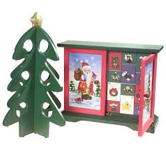 pacconi advent calendar with tree mini ornaments qvc