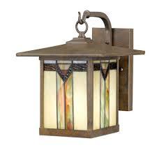 craftsman outdoor pendant light frank lloyd wright tiffany style outdoor wall light 64 98