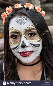 catrina costume a mexican woman dressed in la calavera catrina costume for