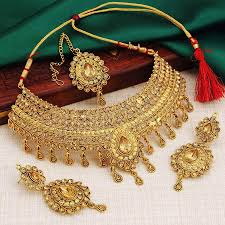 necklace set images Sukkhi exotic gold plated choker necklace set for women jpg