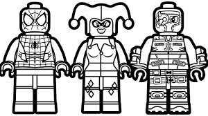 Lego Spiderman Vs Lego Harley Quinn Vs Lego Deadshot Coloring Book Lego Coloring Pages