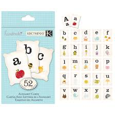 k and company handmade collection alphabet cards clearance