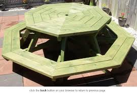 Plans For Round Wooden Picnic Table by Need Help With Octagon Picnic Table Top Please Woodworking Talk