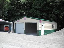 Garage With Carport 22 U0027x26 U0027 Two Car Garage Boat Rv Storage Steel Buildings Sales