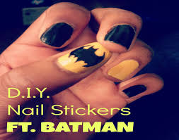 diy nail decals ft batman youtube