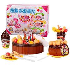 anniversaire cuisine 72pcs enfants cuisine jouets gâteau d anniversaire chocolat achat