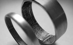 fingerprint wedding bands fingerprint wedding band gear hungry