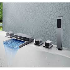 Led Bathroom Faucet by Spread Bathroom Bathtub Bath Tub Led Waterfall Faucet With Hand Shower