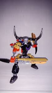 ignis toa of obsidian and skarax the skull warrior lego