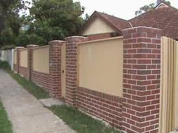 Garden Brick Wall Design Ideas Brick Wall Fence Designs Home Design Ideas