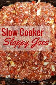 slow cooker sloppy joes using raw ground beef