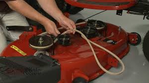 craftsman riding lawn mower deck v belt replacement 532429636