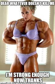 Female Bodybuilder Meme - muscle woman memes imgflip