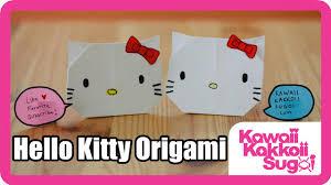 cara membuat origami hello kitty 3d how to fold hello kitty origami hd youtube