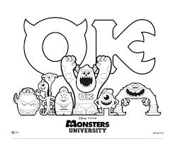 monsters inc coloring pages boo awesome coloring pages monsters inc monsters inc university coloring
