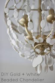 Beaded Chandelier Diy Miss Dixie Diy Gold White Beaded Chandelier