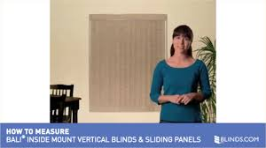 how to measure for bali inside mount vertical blinds and sliding