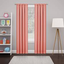 Coral And Navy Curtains Rugs Curtains Panel Coral Blackout Curtains For