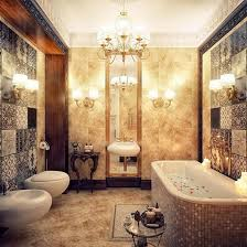 luxury bathroom design modern luxury bathroom design with chandelier and bathtub hupehome