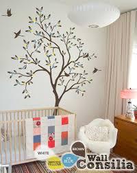 Brown Tree Wall Decal Nursery Baby Nursery Tree Wall Decal Wall Sticker Tree Wall Decal