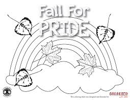 fall for pride coloring sheet coloring with lacey