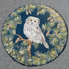 Claire Murray Washable Rugs by Claire Murray Hand Hooked Winter Owl Area Rug Rustic Decor