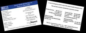 Select Medical Help Desk 2014 Medicare Select Id Card Denver Health Medical Plan