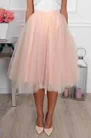 spodnica tiulowa spódnica midi tiulowa pudrowy róż cocomoda pl odzież dams