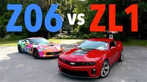 camaro zl1 vs corvette z06 corvette z06 vs camaro zl1