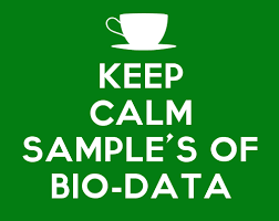 Resume Biodata Sample by Sample Bio Data Resume Curriculum Vitae Cv Management Paradise