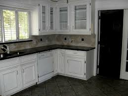 white kitchen cabinets tile floor home decoration ideas