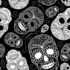 fun halloween repeating background papel de parede caveira 1268 u2026 pinteres u2026