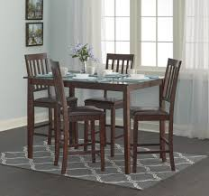 contemporary furniture in fashion glacier extending solid real dining sets room table chair sears essential home cayman 5pc high top set dining room