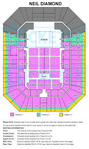 Rod Laver Floor Plan Neil Diamond Live In Concert In Australia