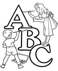gallery of alphabet coloring pages creative coloring page ideas
