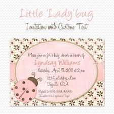 pink ladybug baby shower invitation birthday party invite