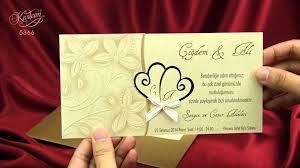 Salon Invitation Card Satış Dışı Sedef Cards 5366 Kıvılcım Collection Düğün