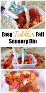 thanksgiving sensory bin easy toddler fall sensory bin idea
