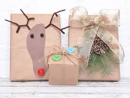 brown gift wrapping paper brown paper bag gift wrap ideas and tutorials for christmas