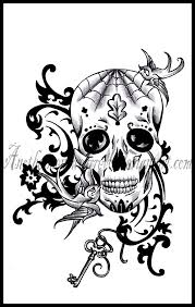 old sugar skull by dabsofkiwi on deviantart tattoos